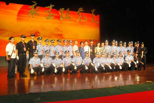 """""""永远跟党走""""庆祝中国共产党成立九十周年舞蹈晚会安全服务工作圆满完成"""